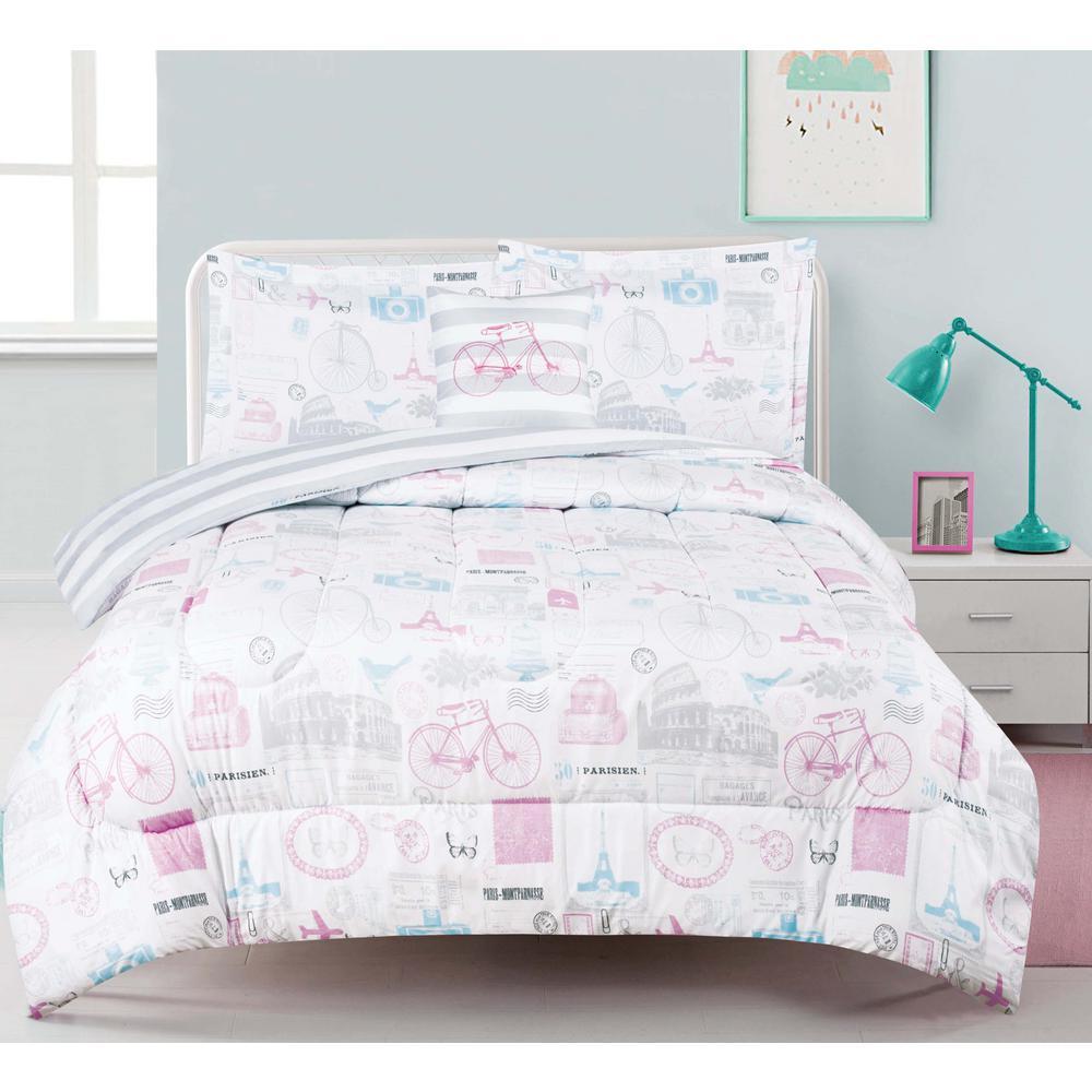 sets bedding depot full blues p set home comforter carrera blue piece the