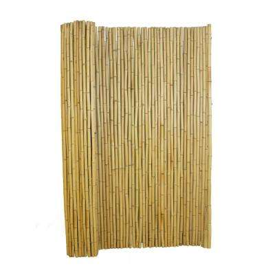 4 ft. H x 6 ft. W Natural Bamboo Fence