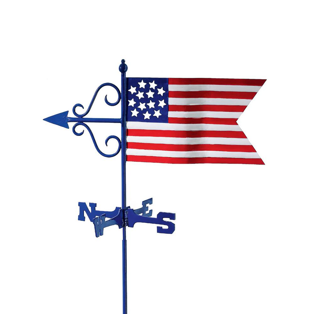 Good Directions Americana Flag Garden Weathervane - with Garden Pole