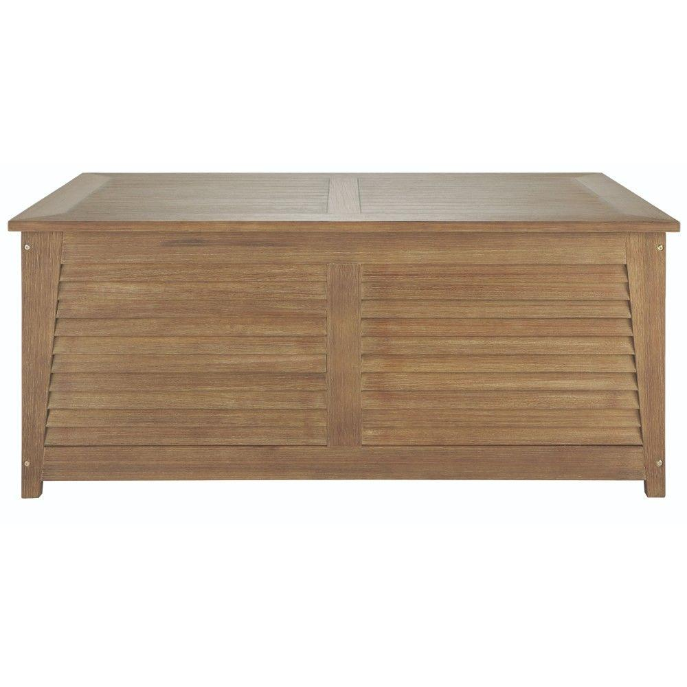 Bermuda 94 Gal. All-Weather Eucalyptus Wood Deck Box