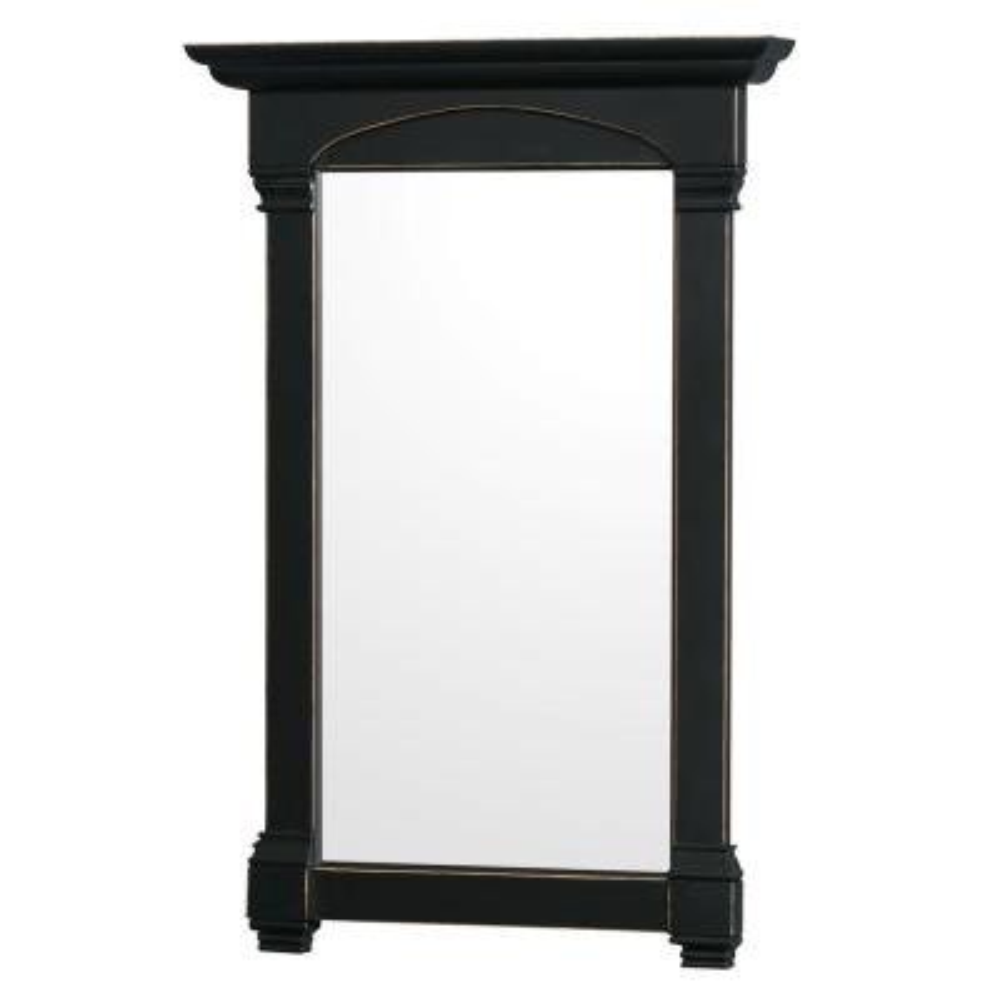 Andover 28 in. W x 41 in. H Framed Rectangular Bathroom Vanity Mirror in Black
