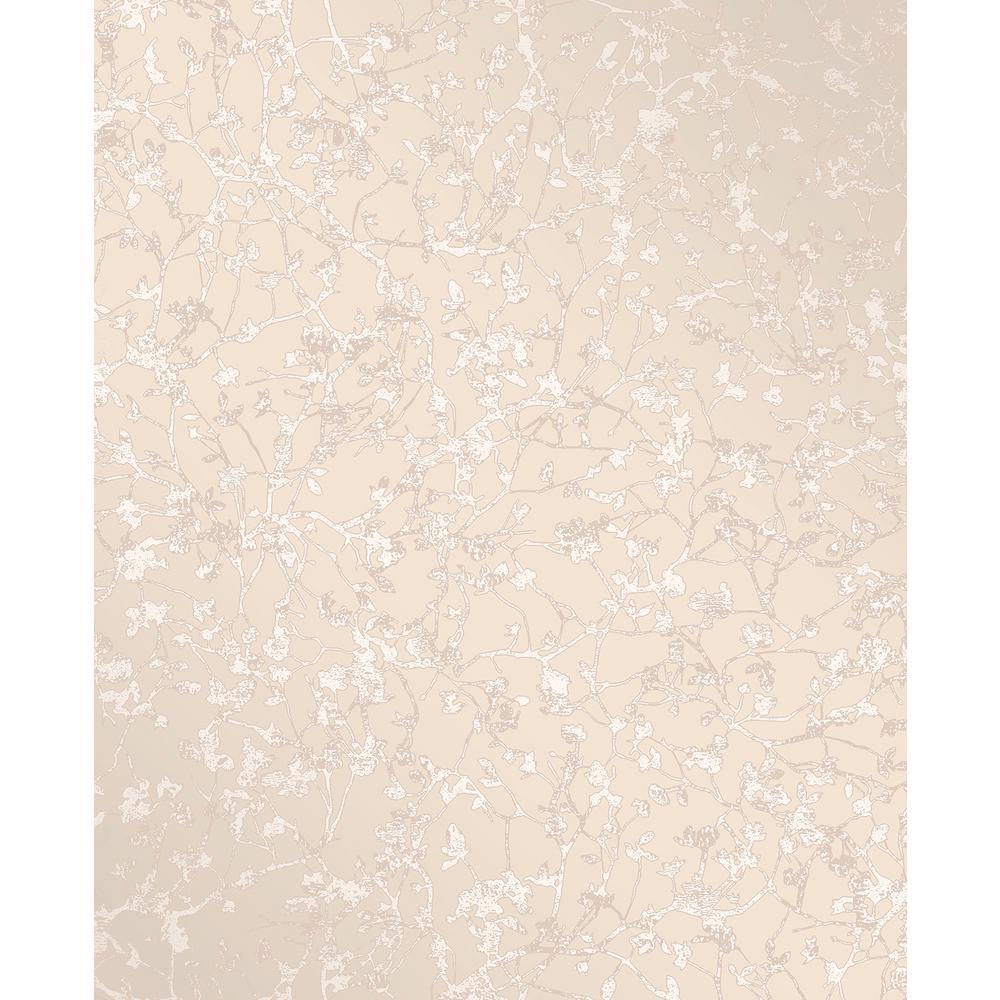 Palatine Champagne Leaves Wallpaper