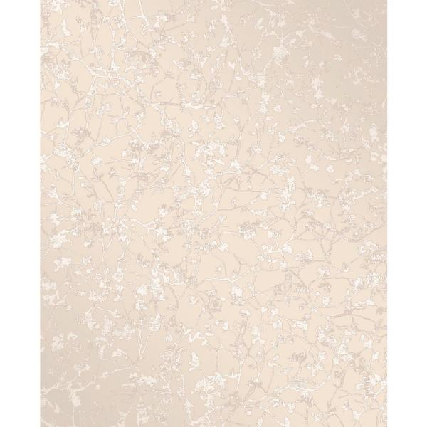 Decorline Palatine Champagne Leaves Wallpaper