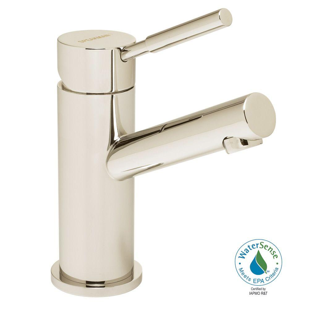 Speakman Neo Single Hole Single-Handle High-Arc Bathroom Faucet in Polished Nickel with Pop-up Drain-DISCONTINUED