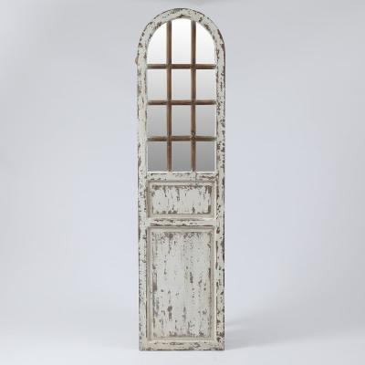White Farmhouse Door Wall Mirror