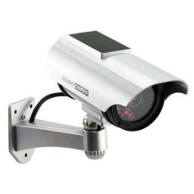 Wireless Solar Indoor/Outdoor Dummy Security Camera with LED