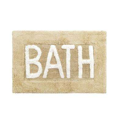 Cotton BATH 21 in. x 34 in. Linen Rug