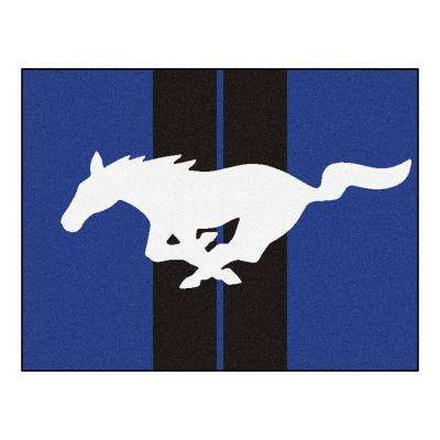 Ford - Mustang Horse Blue 3 ft. x 4 ft. Indoor Rectangle Area Rug