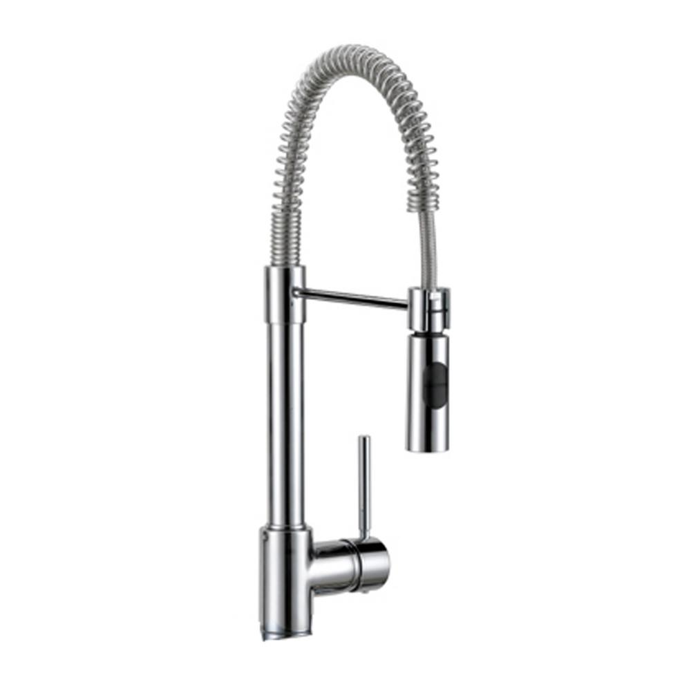 Industrial Chic Single-Handle Standard Kitchen Faucet with Dual Sprayer in