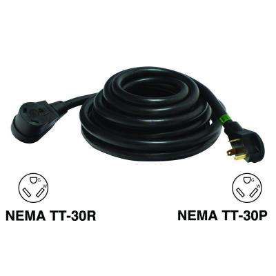 50 ft. 30 Amp Male to 30 Amp Female 10/3 RV Extension Cord