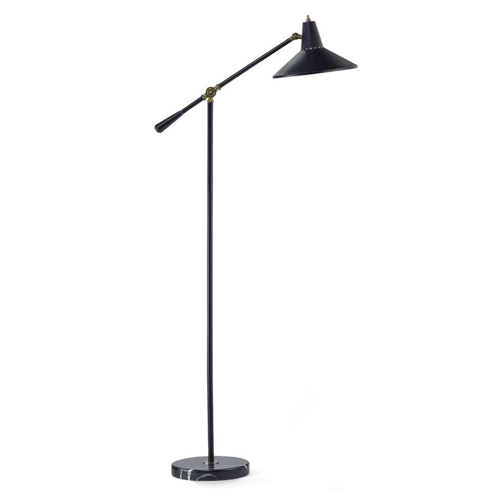 Adesso nelson 59 in black adjustable floor lamp 3682 01 for G 10 floor lamp black
