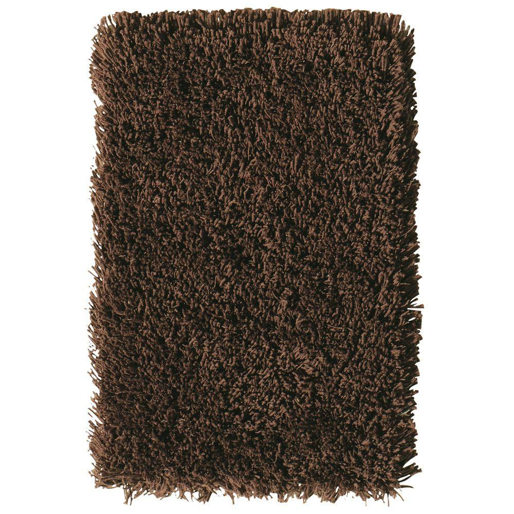 Home Decorators Collection Ultimate Shag Brown 1 ft. 8 in. x 2 ft. 8 in. Area Rug