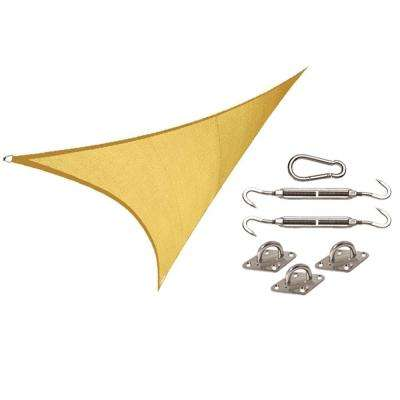 Coolhaven 15 ft. x 12 ft. x 9 ft. Right Triangle Sahara Shade Sail with Kit