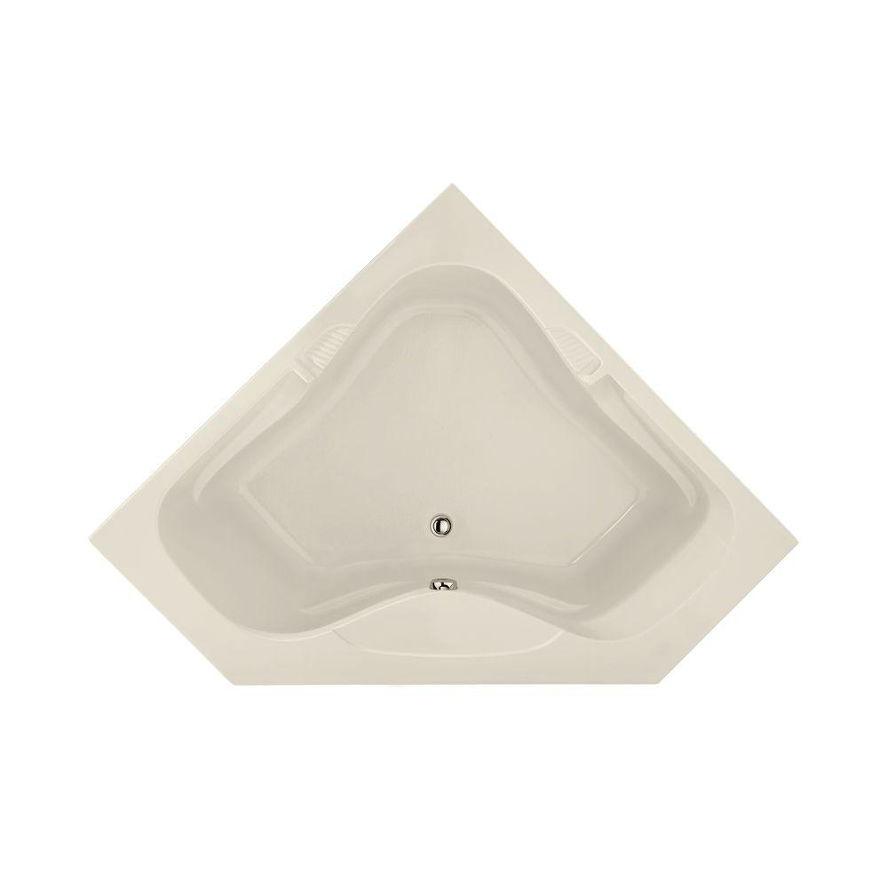 Lexington 5 ft. Front Drain Bathtub in Biscuit
