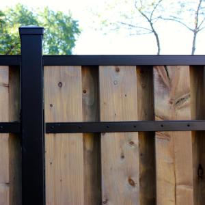 Slipfence 3 In X 2 In X 8 Ft Black Powder Coated