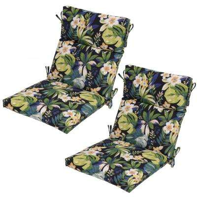 Caprice Tropical Outdoor Dining Chair Cushion (2 Pack)