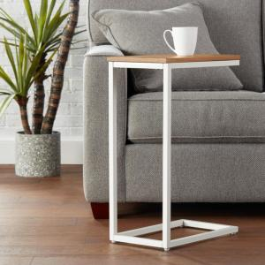 Deals on StyleWell Donnelly Rectangular Metal C Shape Accent Table