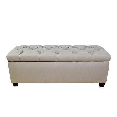 Sean Sachi-4 Dolphin Diamond Tufted Large Storage Bench