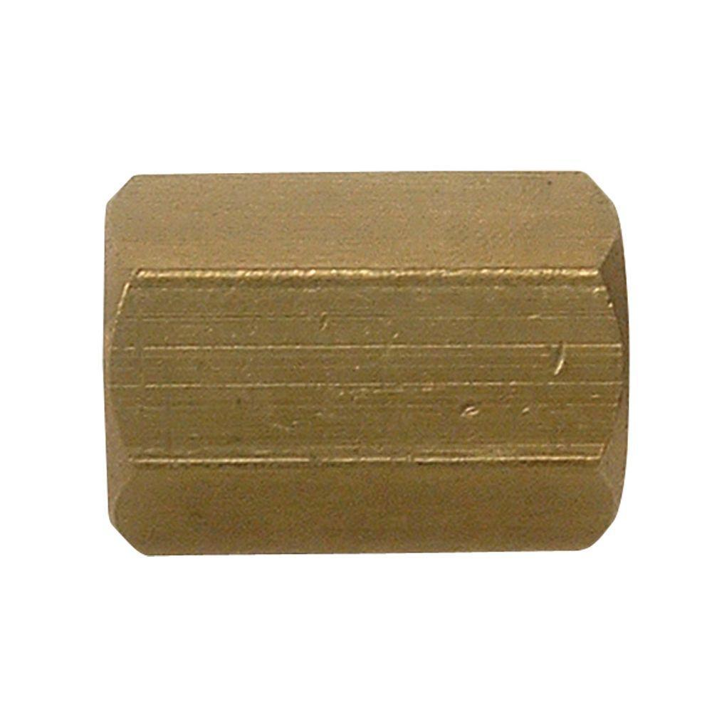Everbilt 1/8 in. FIP Lead-Free Brass Pipe Coupling