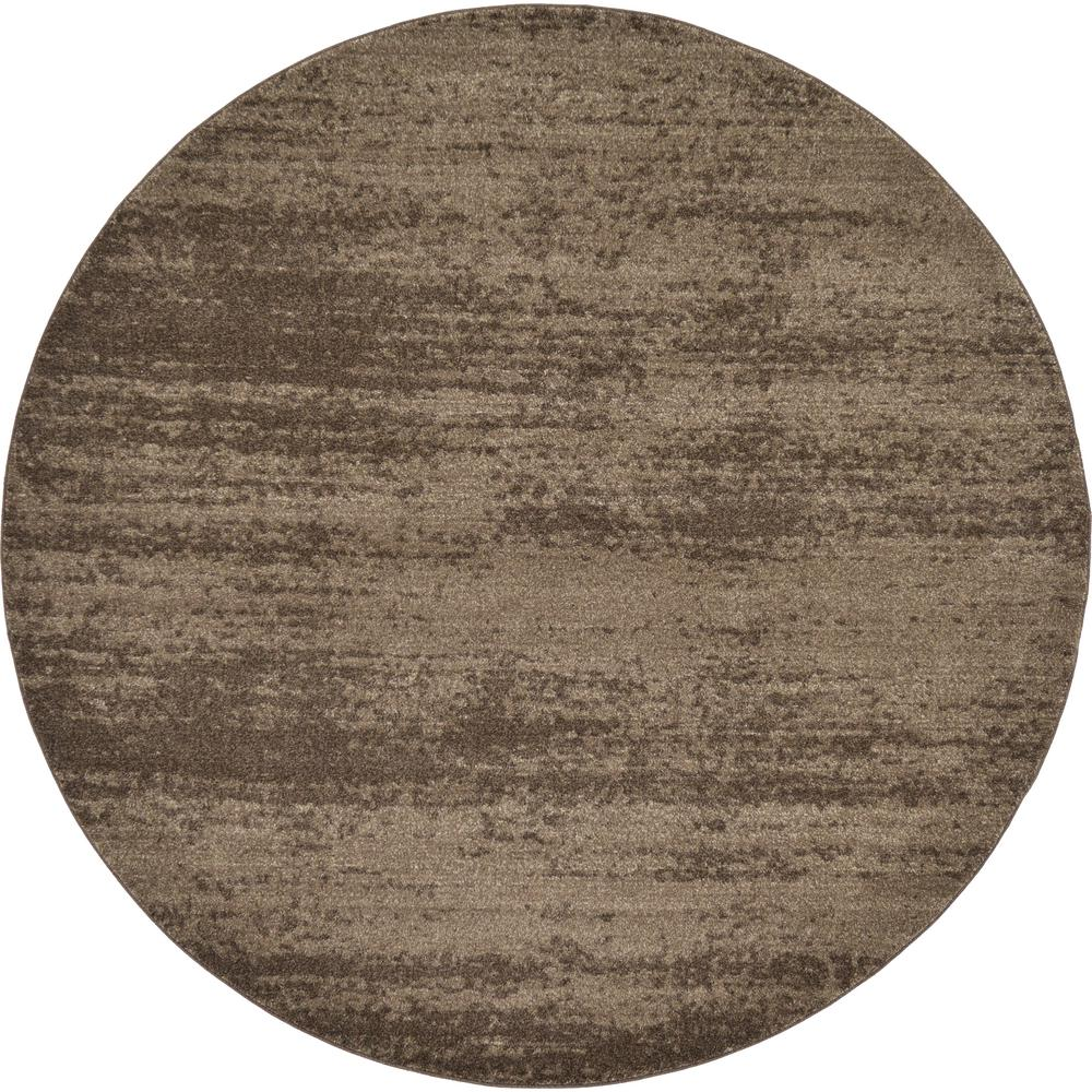 Uniquely Modern Rugs: Unique Loom Modern Del Mar Brown 8 Ft. X 8 Ft. Area Rug