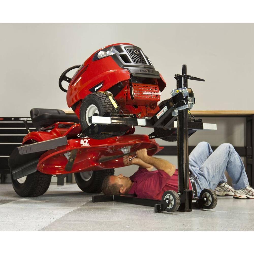 787c4db79f3 MoJack Lawn Mower Lift XT 500 lb Capacity Folding No-Slip Stable ...