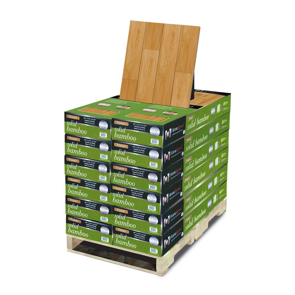 Home Legend Horizontal Toast 5/8 in. Thick x 3-3/4 in. Wide x 37-3/4 in. Length Solid Bamboo Flooring (283.08 sq. ft. / pallet)
