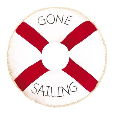 Red Gone Sailing 16 in. Standard Throw Pillow