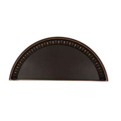 3 in. (76 mm) Timeless Bronze Drawer Cup Pull Egg & Dart