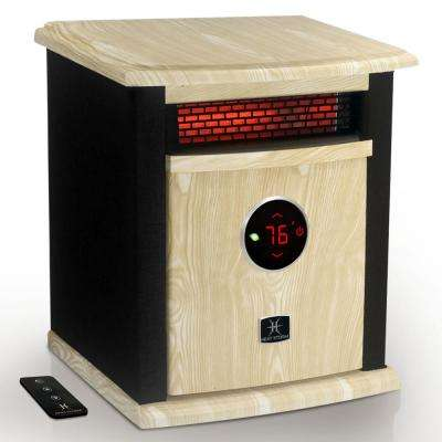 Portable Electric Infrared Space Heater, 1500-Watt Cabinet Infrared Quartz Element, Remote Control, Washable Filter