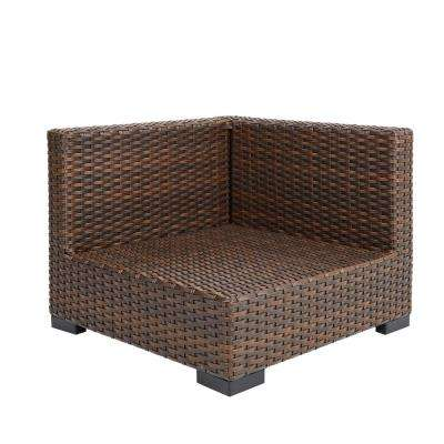 Commercial Dark Brown Wicker Left Arm, Right Arm or Corner Outdoor Sectional Chair