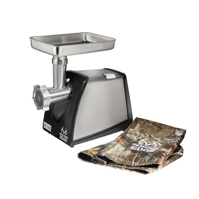 Realtree Edge 650-Watt Heavy-Duty Stainless Steel Meat Grinder with Camouflage Storage Cover
