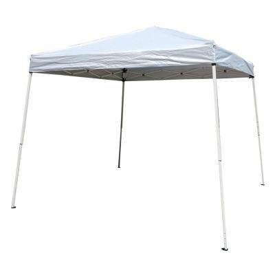 9.8 ft. x 9.8 ft. Portable Home Use Waterproof Folding Tent White Shed