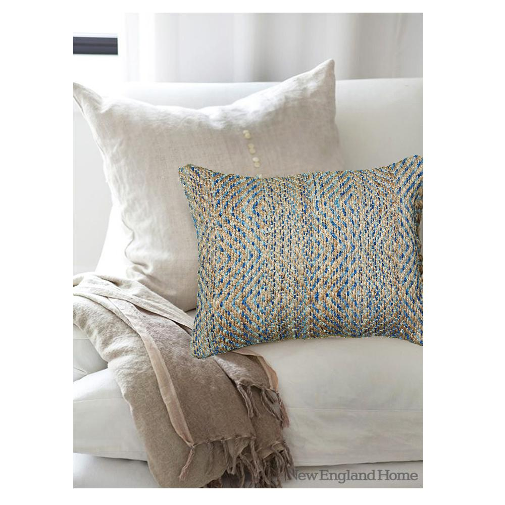 Lr resources contemporary light blue 16 in x 24 in rectangle decorative indoor accent pillow pillo07242blugopl the home depot