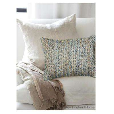 Contemporary Light Blue 16 in. x 24 in. Rectangle Decorative Indoor Accent Pillow