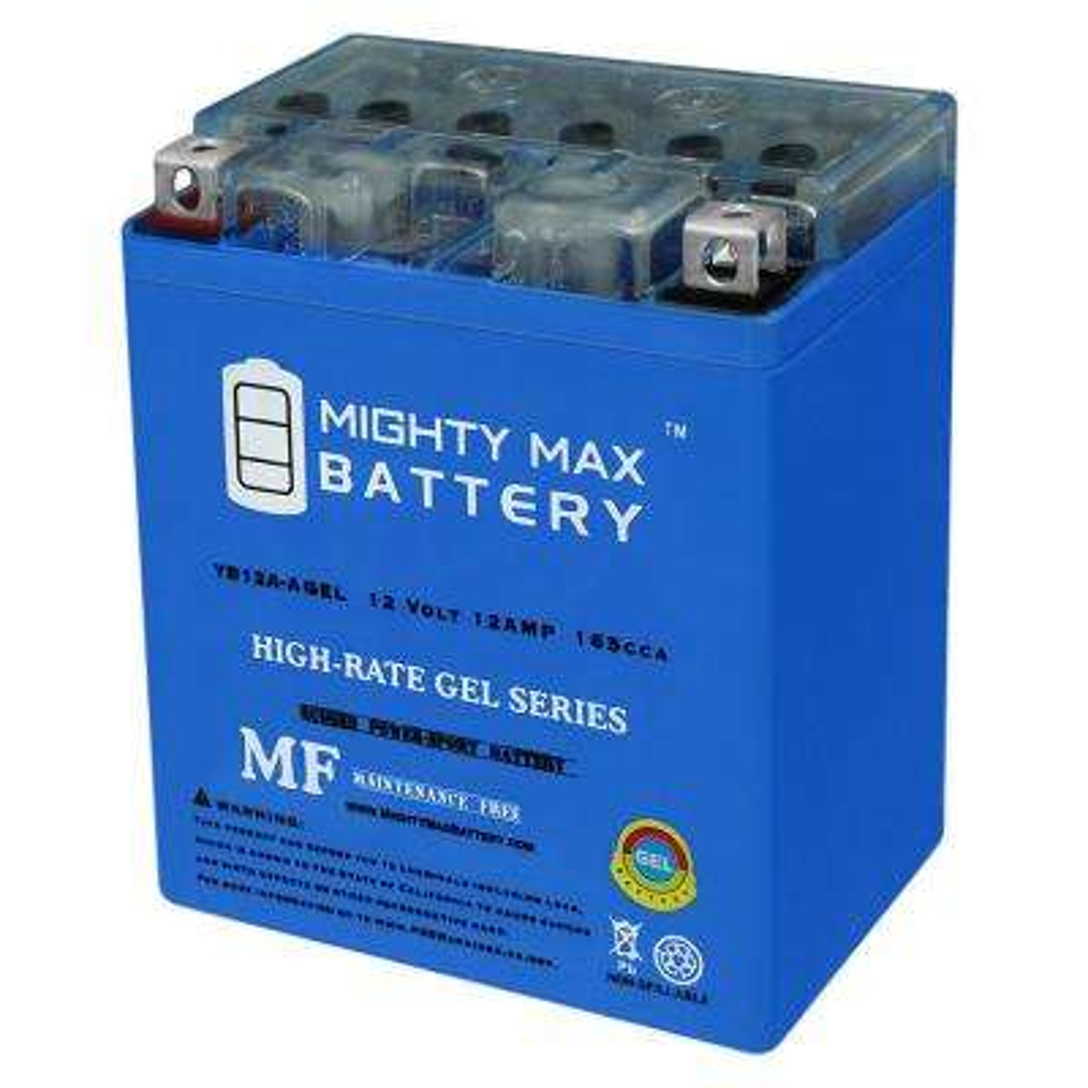12-Volt 12 Ah 165 CCA GEL Rechargeable Sealed Lead Acid (SLA) Powersport Battery