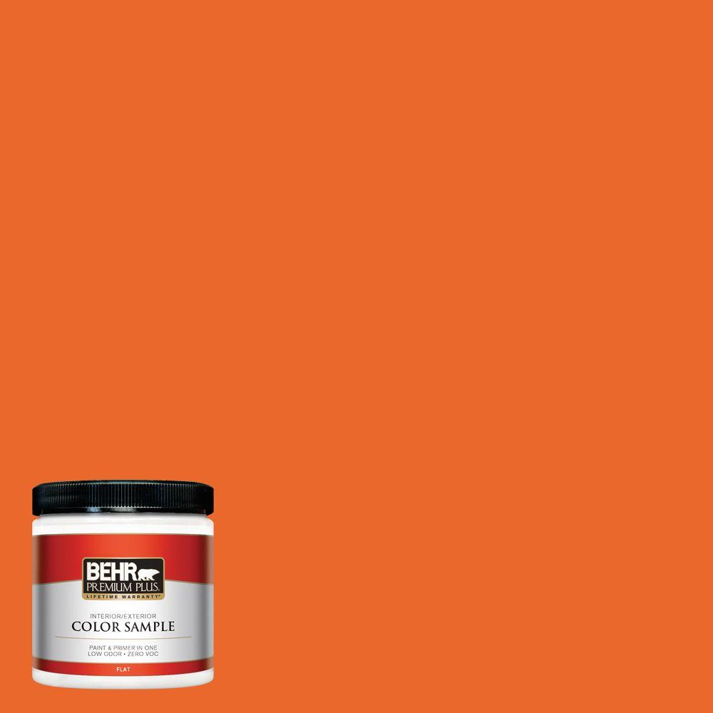 behr premium plus 8 oz 220b 7 electric orange interiorexterior paint