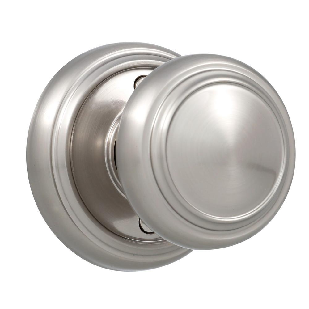 Dummy door knob fake home security interior residential - Satin nickel interior door knobs ...