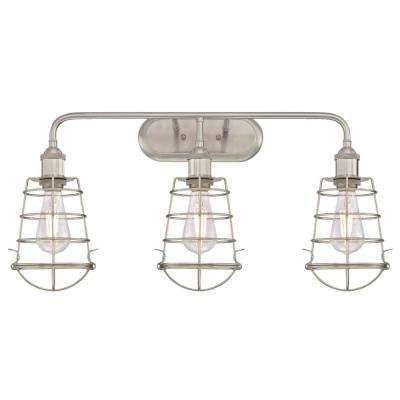 Brushed Nickel Vanity Lighting Lighting The Home Depot