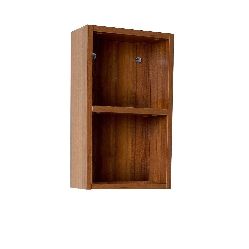 Fresca 12 in. W Linen Storage Cabinet in Teak-FST8092TK - The Home Depot