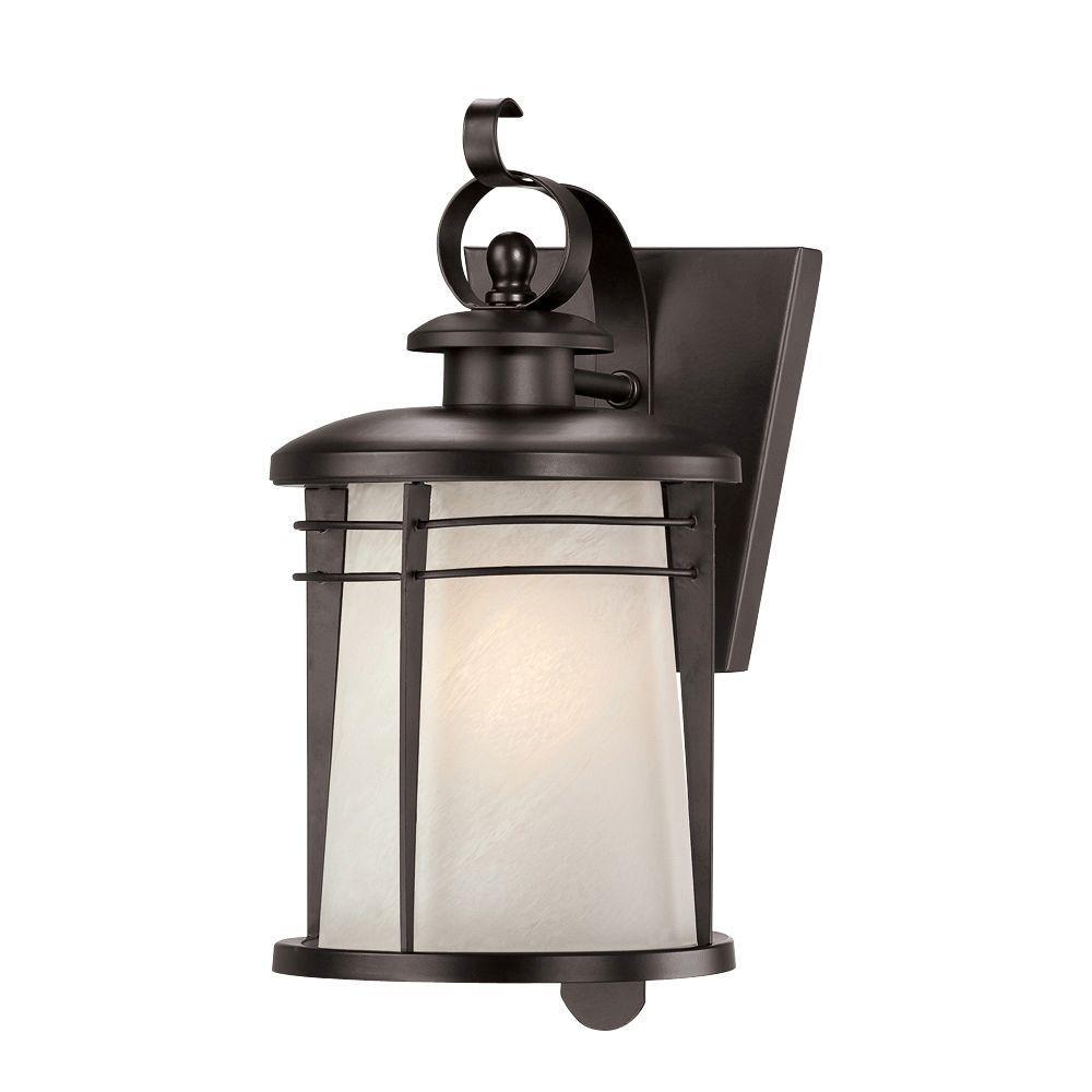 Senecaville Wall-Mount 1-Light Weathered Bronze Outdoor Lantern