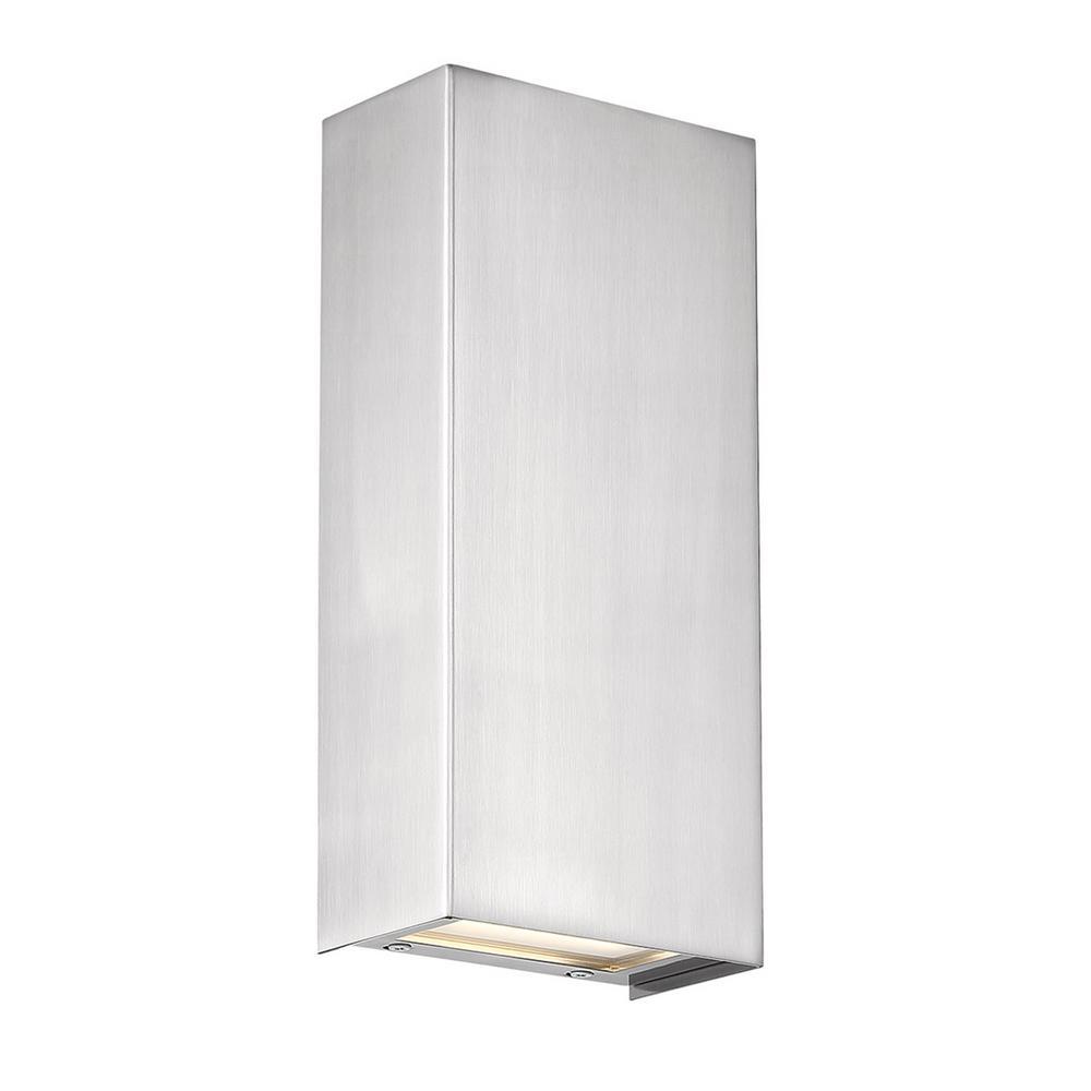 Blok Vertical Satin Nickel LED Vanity Light Bar and Wall Sconce, 3000K
