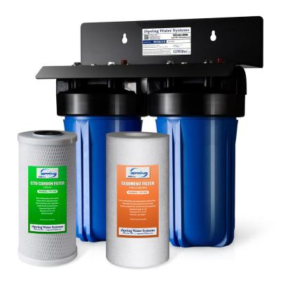 2-Stage Whole House Water Filtration System with 4.5 in. x 10 in. Sediment and Carbon Block Filters