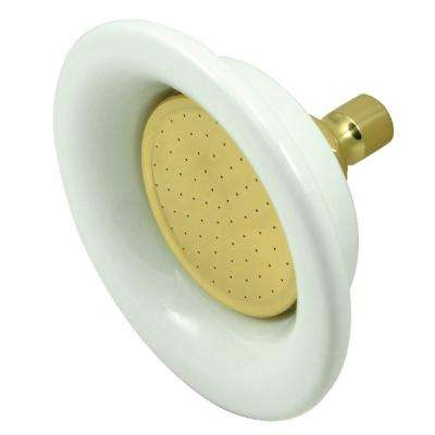Sunflower 1-Spray 6.3 in. Showerhead in Polished Brass