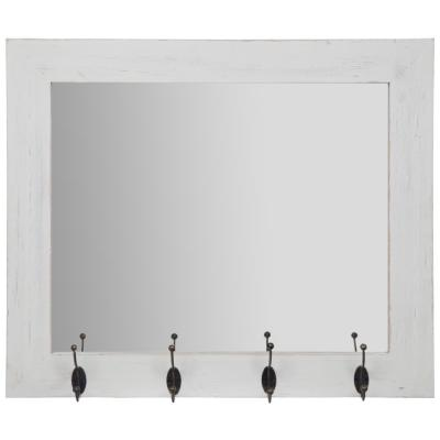 Medium Rectangle White Mirror (22 in. H x 26 in. W)