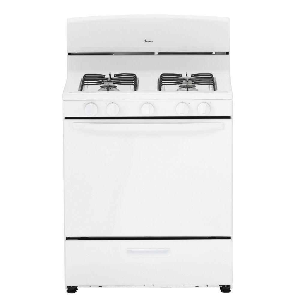 Amana 5.1 Cu. Ft. Gas Range In White-AGR4230BAW