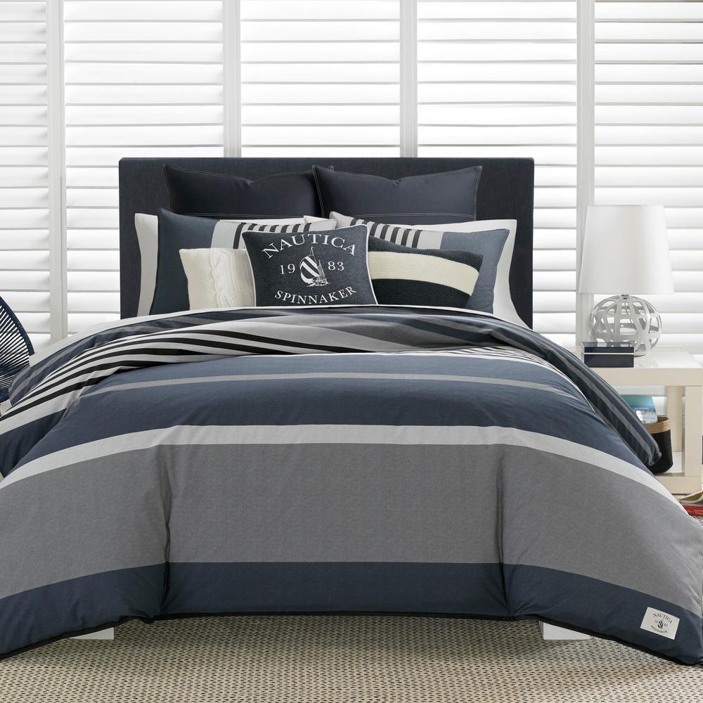Rendon 3-Piece Charcoal Full/Queen Comforter Set