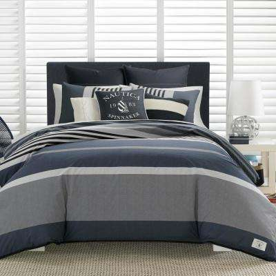 Rendon 3-Piece Charcoal Full/Queen Comforter Set