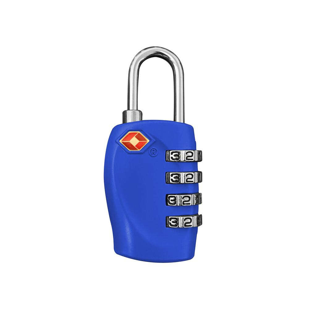 4 Digit Combination Padlock in Blue - TSA Approved
