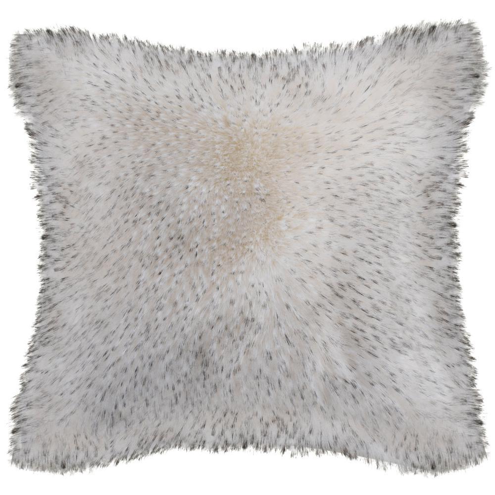 Faux Dalmatian Tips Plush Fur Pillow