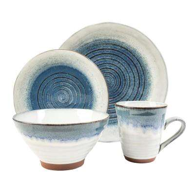 Talia Dusk 16-Piece Blue Dinnerware Set